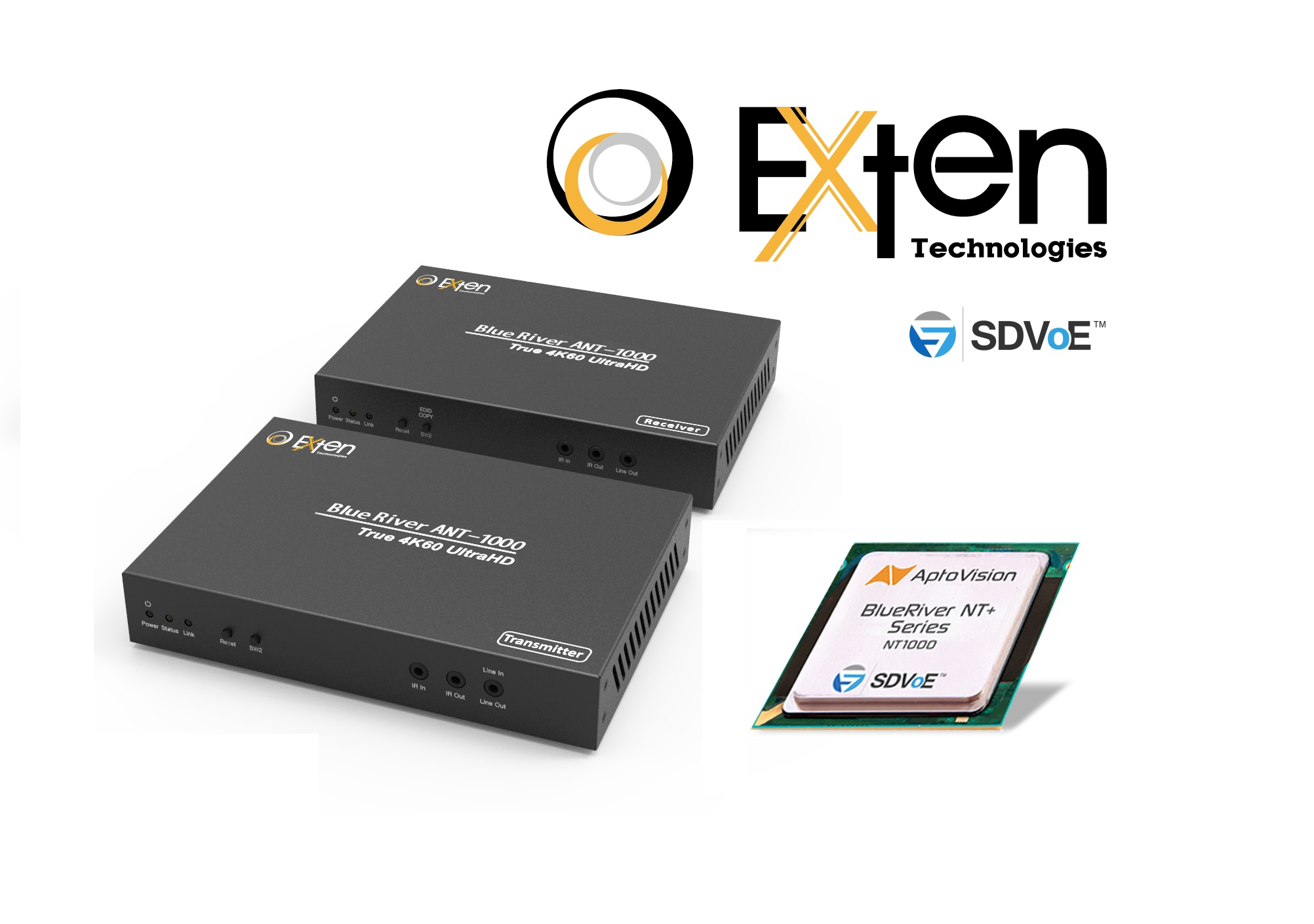 Exten 4K分布式矩阵网络发射器/接收器