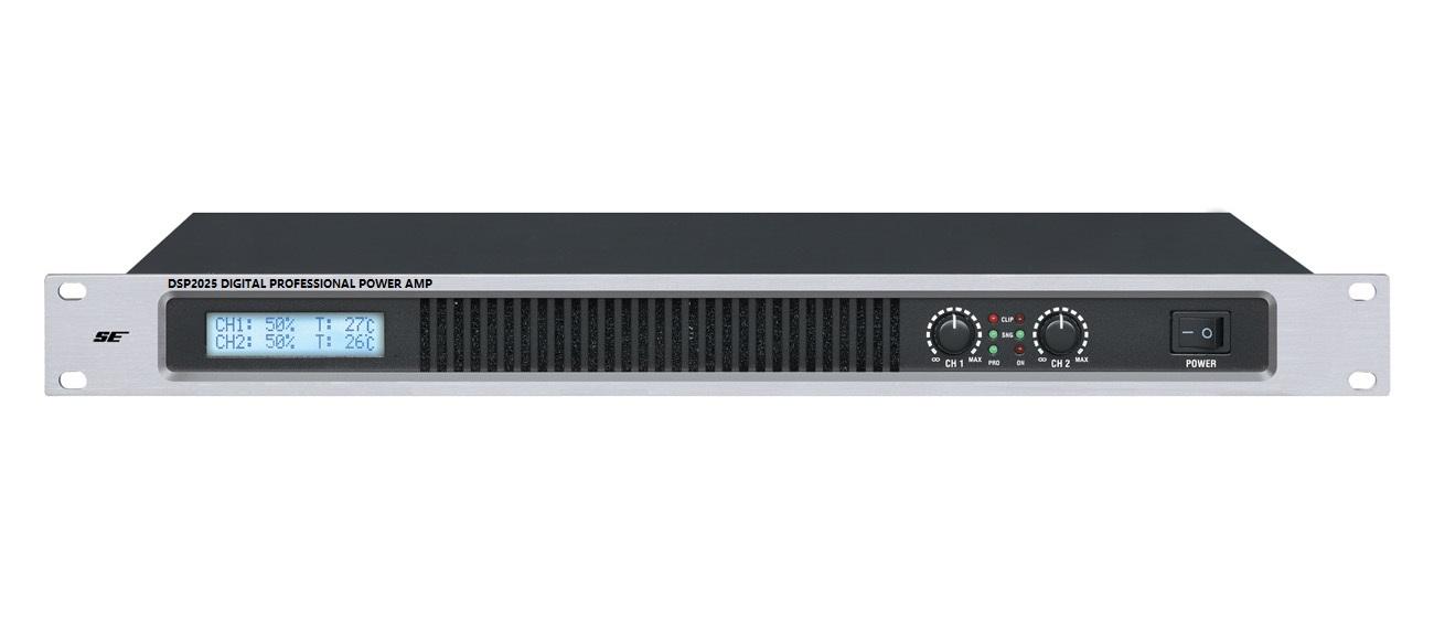 DSE DSP2025 带音频处理器的数字音频功放(DSP2*250W)